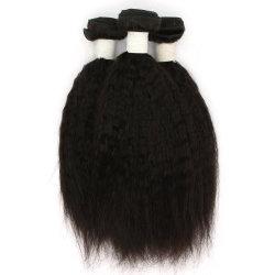 100%年のRemyのペルーのねじれた直毛のよこ糸