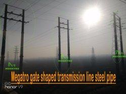 Megatro porte la ligne de transmission en forme de tuyau en acier