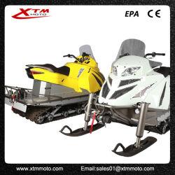 Potentes luces LED de esquí de nieve de carreras de adultos una moto de nieve