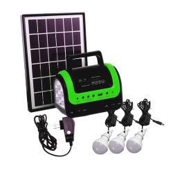5W СОЛНЕЧНАЯ ПАНЕЛЬ 3ПК 3Вт Светодиодные лампы 4ah аккумулятора зарядное устройство для мобильных телефонов комплект солнечной энергии