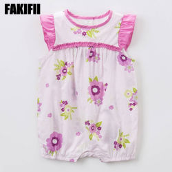 [فكيفي] جمليّة طفلة يرتدي أزياء صيف [رومبر] قطن أطفال الملابس