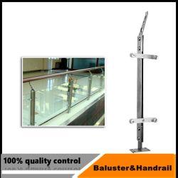 Corrimão de vidro em aço inoxidável Pilar para escada ou Varanda