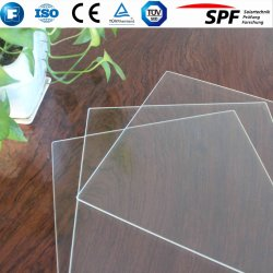 Extra Claro de 3,2 mm Recubrimiento anti reflejo la hoja de Templado de Vidrio para panel solar