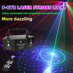 500MW de Lichten van RGB 9 Lichte LEIDENE van de Laser van het Stadium van Ogen Effect van de Stroboscoop