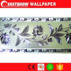 El PVC en relieve el papel tapiz de plata de la Frontera (220g/m² 17,6cm x 5M)