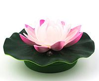 Индикатор воды фонари освещения творческого Waterlily Lotus Notes эмуляции светодиодный фонарь Водонепроницаемый светодиодный индикатор прекрасным внутренним убранством в форме цветка светодиодный индикатор Waterlily лампы