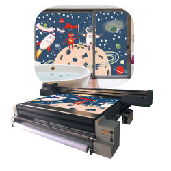 Industriel 3,2 m numérique Imprimante scanner à plat UV hybride Ricoh Gen5 LED UV à plat à bon marché de la tête Hybrid Rouleau pour imprimante