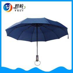 Promotion Ouverture et fermeture automatiques personnalisés 10 Panneau 3 Cadeau d'affaires de la publicité de pliage parapluie automatique