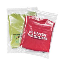 Venda por grosso de PE transparente personalizada para vestuário chinelos macios Stand up com bico Zip Lock saco de plástico