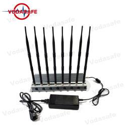 Antenna fissa di Bloqueador De 8 dell'emittente di disturbo di alto potere: Inceppandosi per tutto il telefono mobile 4G/3G/2g/WiFi2.4G/CDMA450MHz, inceppante fino a 60m