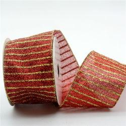 Embroidered Xmas Ribbon 2020년을%s 가진 100%년 폴리에스테 Satin