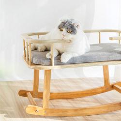 無垢材製フレーム Cat ベッドクレードルは、あらゆる用途に対応します 通年の 0224