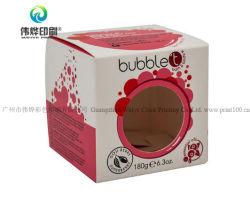 Горячие продажи печать логотипа косметической упаковки подарочная упаковка бумаги с прозрачное окно