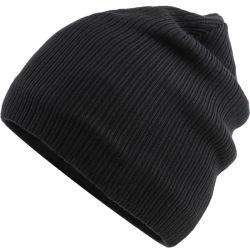 高品質卸売のためのが付いている黒い編まれた帽子の帽子を並べる明白なカスタムカラー羊毛