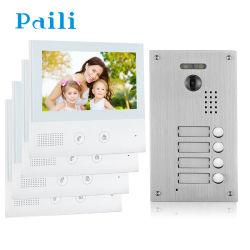 2 porta de vídeo de 7 polegadas de fio de telefone 4 Apartamento