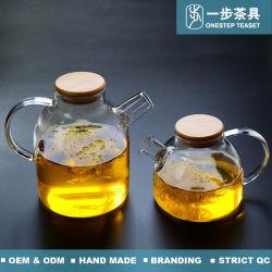Infuserの耐熱性ホウケイ酸塩ガラスのティーポット