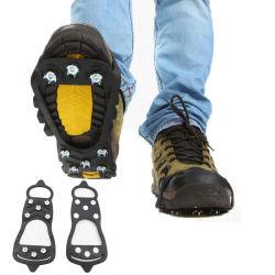 Borracha as sapatas de deslizamento dominares as botas de escalada abrange curta empunhadura de pranchas de gelo Anti Slip Snow Calçado Spike Subir Gelo Neve Esqui Grampos Galochas para