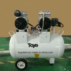 Vis de la pompe à air rotatif Oilless matériel dentaire portatif Silence compresseur à air du piston