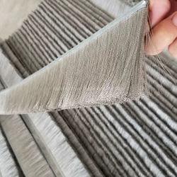 Acero inoxidable de 0,1 mm de onda de fino Alambre engarzado Cepillo de tiras de sellado de aluminio