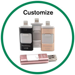 iPhone를 위한 OTG USB 섬광 드라이브 기억 장치 지팡이 저장