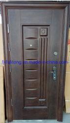 Stahl-Belüftung-Eingangs-hölzernes Tür-Sicherheits-Gatter, das hölzerne Eintrag-Tür schiebt