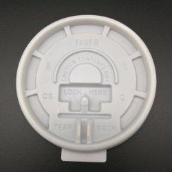 コーヒーペーパーカップ用フラットプラスチック PS リッド