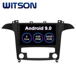 Witson Android 9.0 sistema de Car Audio Multimedia para 2008-2010 Ford S-Max de 4 GB de RAM 64 GB de memoria flash pantalla grande