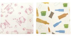 Многоразовый белый 1 Ply Переработанные печатные кухонные полотенца стойки стабилизатора поперечной устойчивости