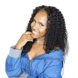 Kinky delantera de encaje rizado Cabello pelucas para las mujeres negras de densidad de 250% Pre arrancaban el pelo del bebé Cabello Non-Remy brasileño nunca Belleza