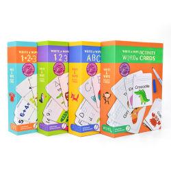 Cartão educacionais Brinquedos de aprendizagem de inglês Apagável Cartão Flash Card para o bebé