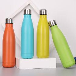 Aço inoxidável 18/8 500 ml em forma de Cola vaso de vácuo Piscina Aluguer Sports garrafa de água