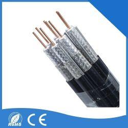Câble coaxial RG6 Tai-Shield Quad-Shield RG6/U pour la télévision par satellite