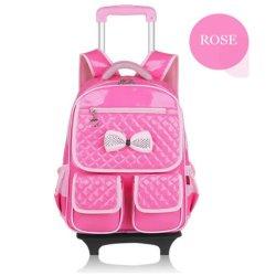 Escola de rodas removíveis personalizadas Bag Mochila Trolley