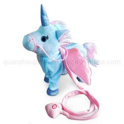 Los animales OEM cantar caminar Unicorn Peluche Peluche electrónico