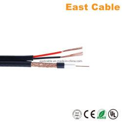 セリウムのRoHSの標準のSetelliteまたはMonitor/CCTVのための同軸ケーブルのCu CCA CCS Rg59 +2c力ワイヤー