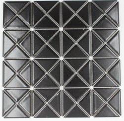 De noordse Driehoekige Ceramische Lapwerk van het van de Achtergrond bank van de Eetkamer van de Keuken van het Mozaïek Matte Zwarte Tegel van de Woonkamer van de Muur