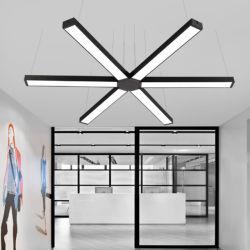 Alumínio de alta qualidade 40W 60W 80W LED suspensos luz linear para o Office e supermercado Office iluminação LED luminária de luz Linear