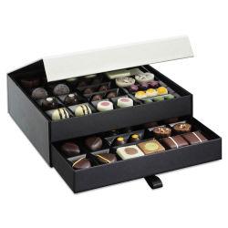 Het in het groot Professionele Vakje van de Gift van het Document van de Chocolade van de Douane Huidige Verpakkende met Plastic Dienblad