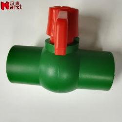 Plastik-PPR Messingkugelventil des Schweißens-Verbindungsstück-für heißes und kaltes Wasser