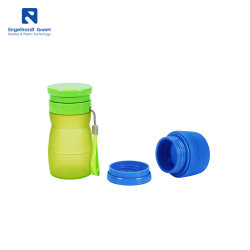 Tazza piegante del silicone della tazza del silicone pieghevole portatile della bottiglia di acqua