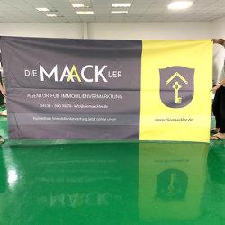 広告のための顧客用PVC旗のビニールPVC旗の網の旗