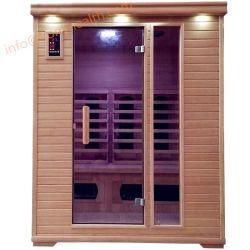 Weites Infrarot-Sauna mit der kombinierten Heizung hergestellt vom festen Holz