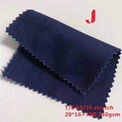240GSM T/CのWorkwearのための多綿の伸張のドリルまたはあや織り編まれたファブリック