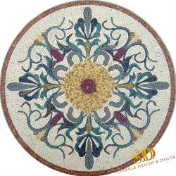 La Chine prix d'usine Handmade médaillons en mosaïque de marbre carreaux de mosaïque de marbre encastré à la Table ronde