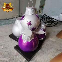 Commerce de gros grande boule de noël de résine pour des vacances décorations