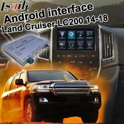 """В Android Market Lsailt система навигации GPS для Toyota земли крейсера """"LC200 2013-2018 видео интерфейс"""