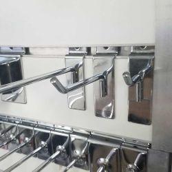 Supermarkt Pegboard Gridwall Metallchrom-Stöpsel-Bildschirmanzeige Slatwall Haken