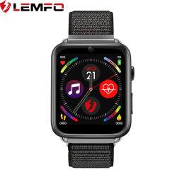Lemfo nouvelles LEM10 4G Android Carte SIM Smart Watch 1.82pouces grand écran 3Go + 32Go sangles remplaçables par l'axe Pogo magnétique Téléphone WiFi GPS Smartwatch Smart Phone
