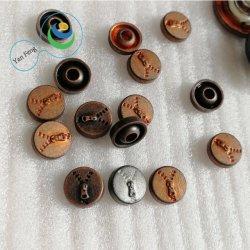 accessori dell'indumento del ribattino della lega di disegno di rilievo di marchio di figura della chiusura lampo di 8mm