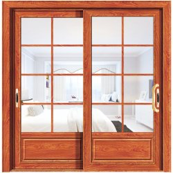 Meilleur prix en bois Portes en verre décoratifs en aluminium de couleur pour la cuisine